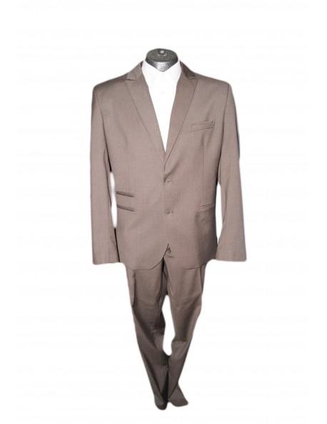 Slim karcsúsított fazonú öltöny-Dohány Barna