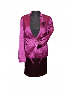 ZseZsu női szatén kosztüm-Lila