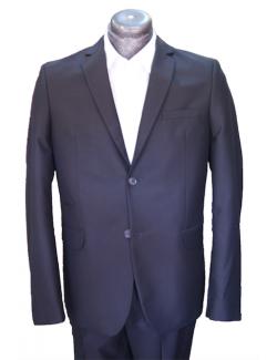 -ÚJ- Slim karcsúsított fazonú öltöny-Fényes Fekete