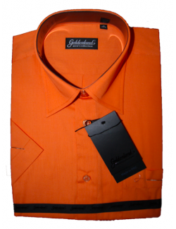 -ÚJ-Goldenland rövid ujjú normal fit ing-Narancssárga