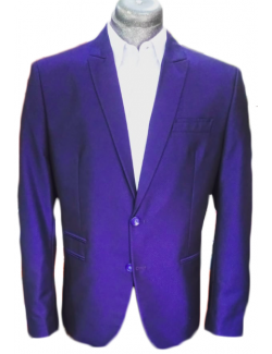 -ÚJ-Slim Karcsúsított fazonú öltöny-Esőcseppmintás Kék