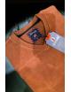 Antracid Férfi slim V nyak pulóver-Barna