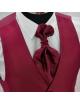 Ceremónia Férfi Mellény szett-Bordó mintás