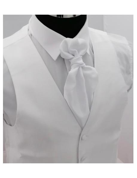 Ceremónia Férfi mellény-Fehér mintás