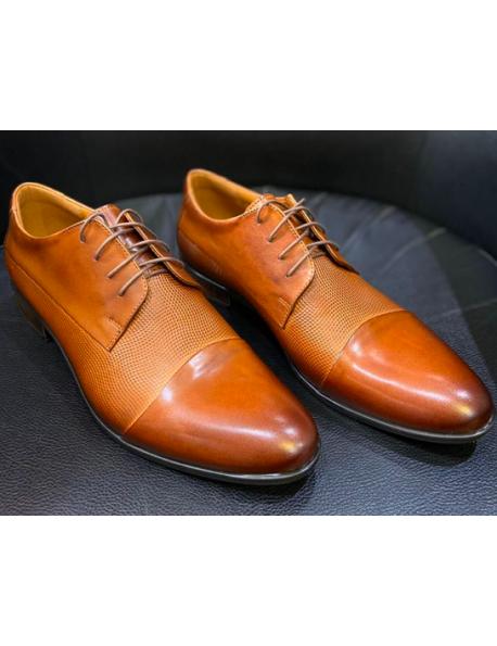 D'Royce Premium férfi alkalmi cipő-Középbarna