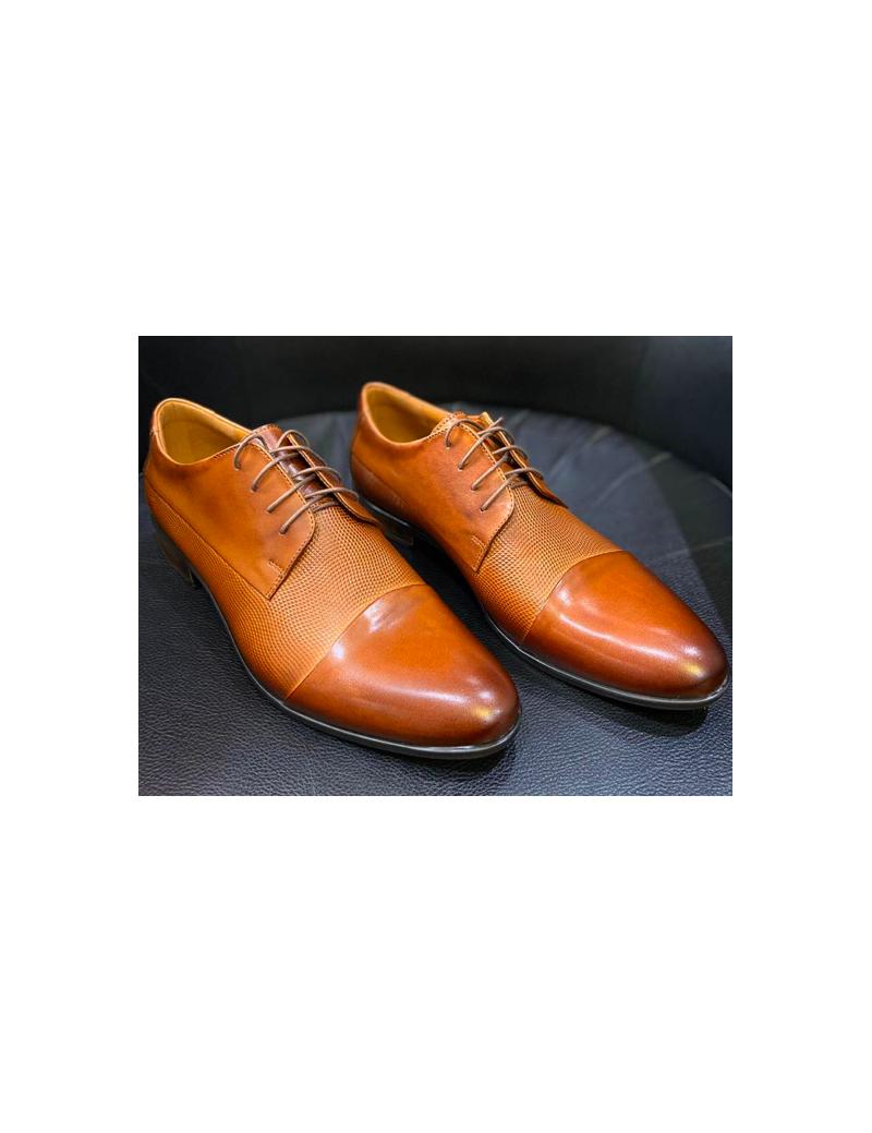D'Royce Premium férfi alkalmi cipő Középbarna ZseZsu Fashion