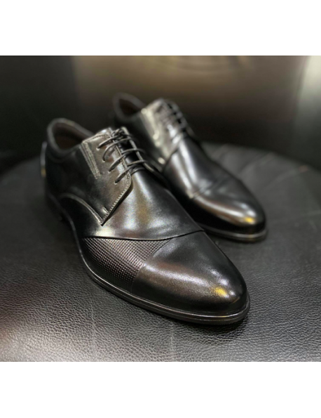 D'Royce Premium férfi alkalmi cipő-Fekete