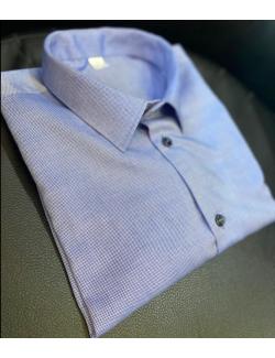 100% pamut Premium slim fit férfi ing-Kék 1