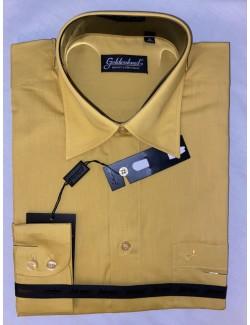Goldenland Normal fit hosszú ujjú ing-Sárga