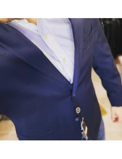 LB Premium Férfi slim fit öltöny-Kék