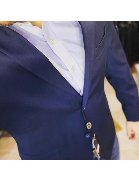 LB Premium Férfi sim fit öltöny-Kék