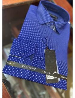 Falcon's Slim fit férfi ing- Kék-Fehér mintás