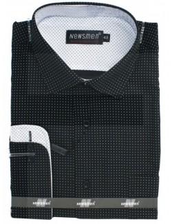 Newsmen classic hosszúujjú férfi ing- Fekete pöttyös